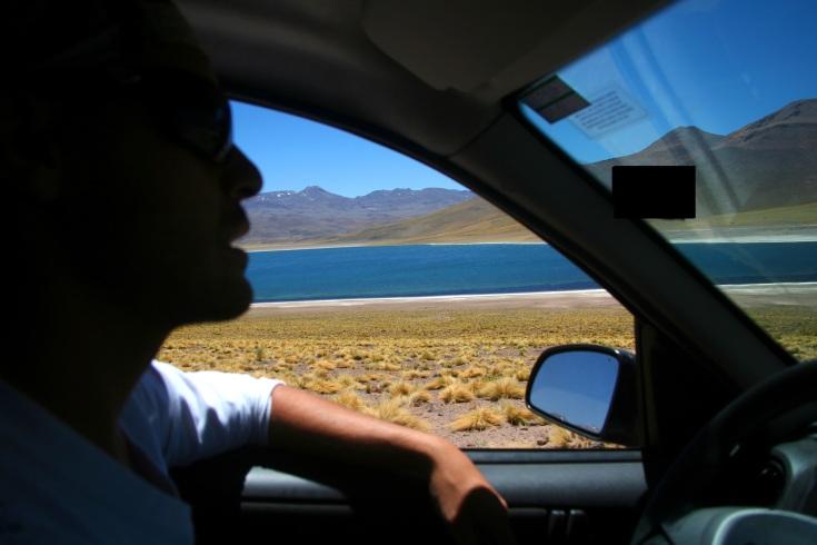 Chegando na Laguna Miscanti.