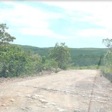 Locais onde a estrada está mais esburacada