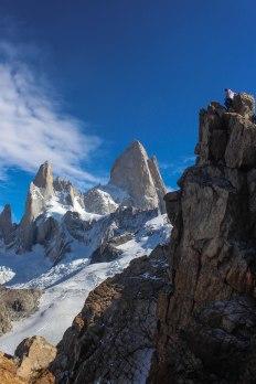 Cerro Chaltén (Fitz Roy) visto do Cerro Madsen