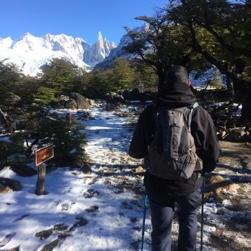 Saindo do Mirador Cerro Torre